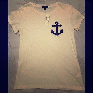 NWT J.Crew Black Watch plaid anchor T-shirt